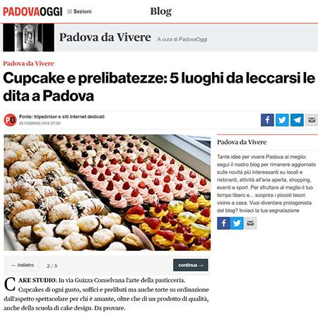 Padova Oggi 2018 cake sudio padova