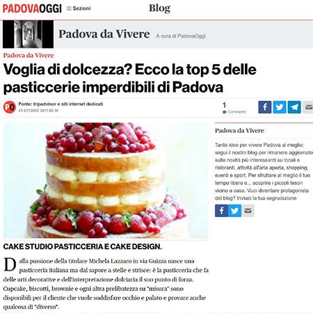 Padova Oggi 2017 cake sudio padova