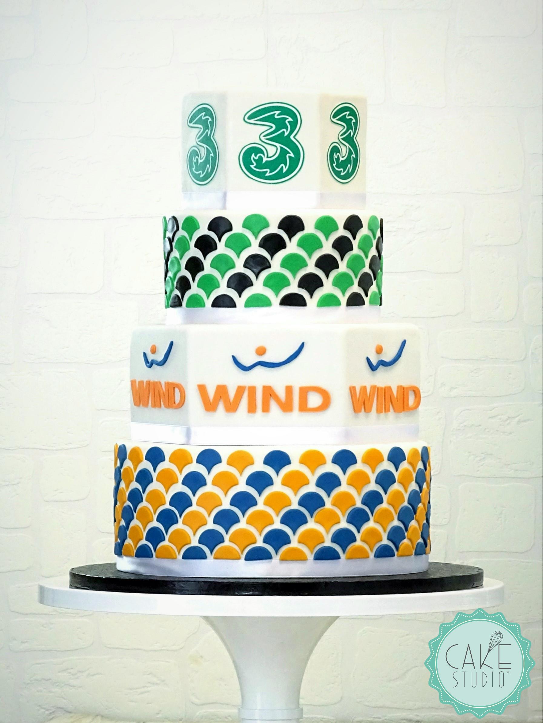torta per evento aziendale wind tre