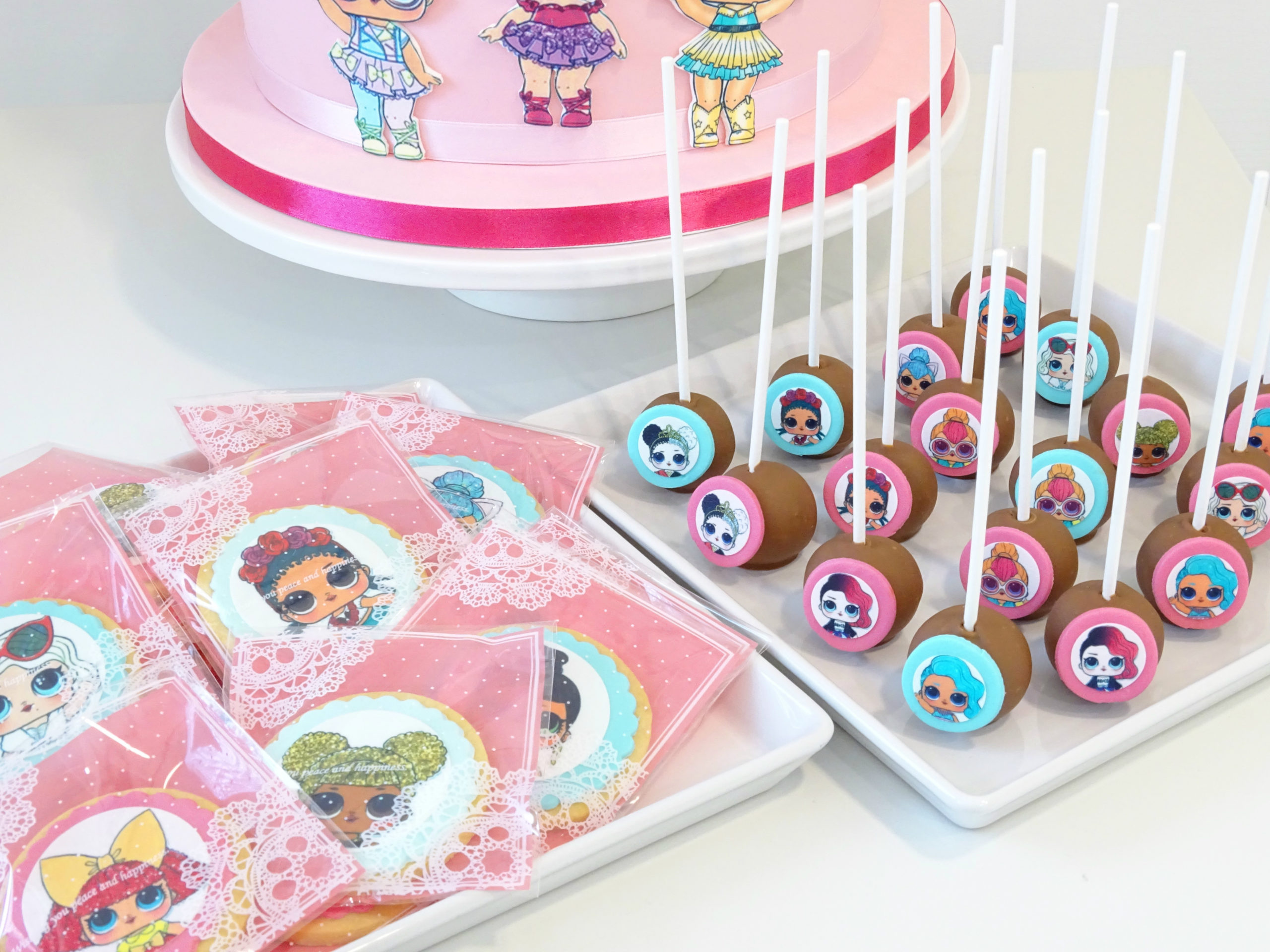 biscotti e cakepop con LOL surprise