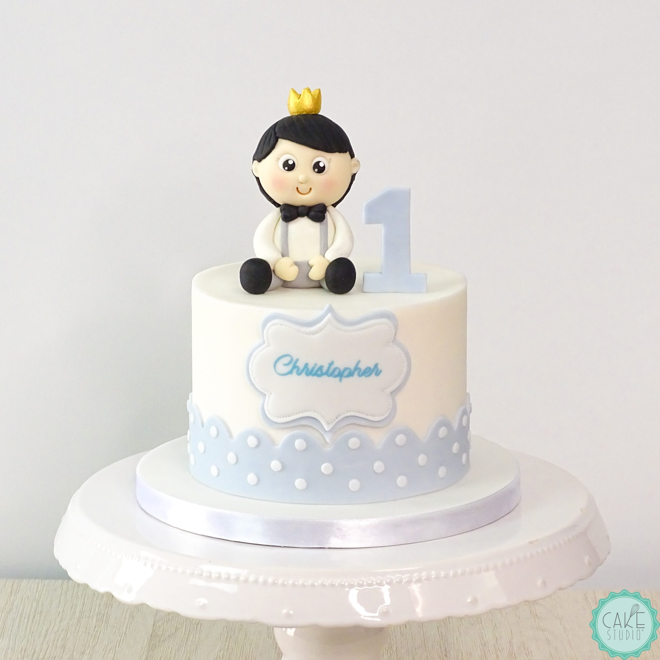 torta primo compleanno bambino corona