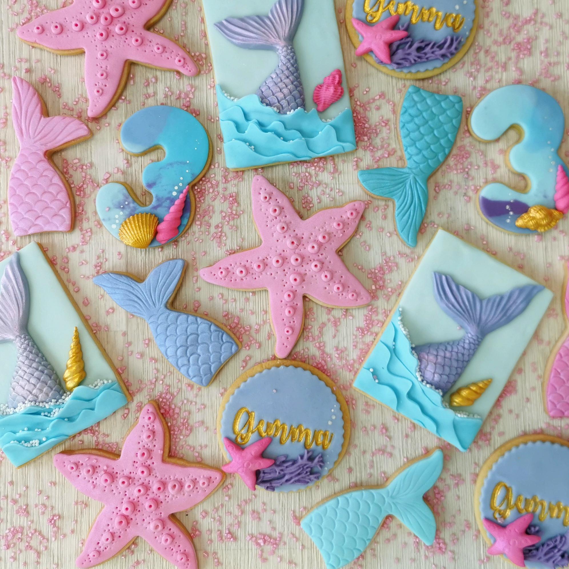 biscotti coda sirena e stella marina