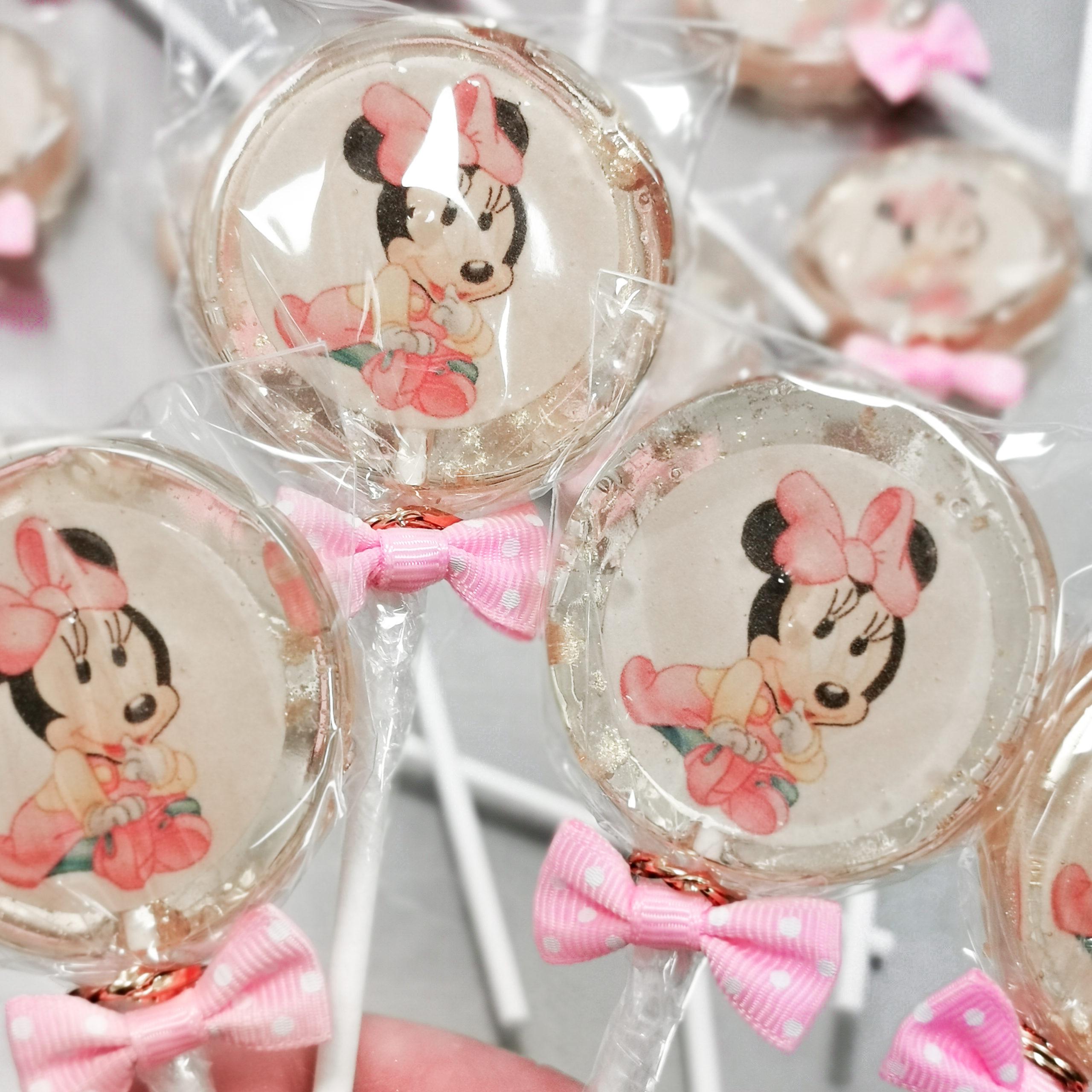lecca lecca Minnie fiocco rosa