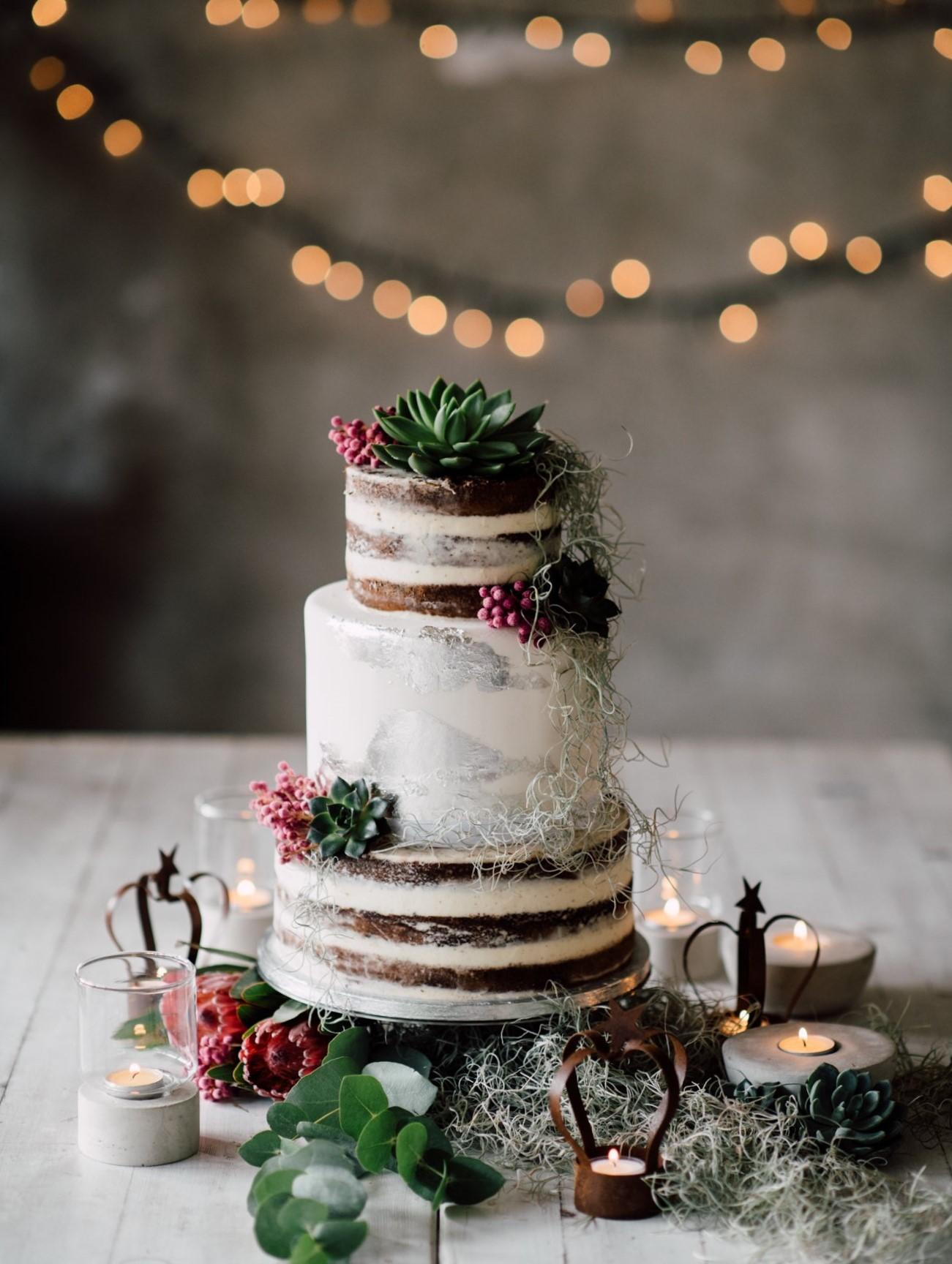 wedding cake nuda seminuda piante grasse succulente