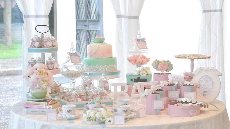 sweet table battesimo