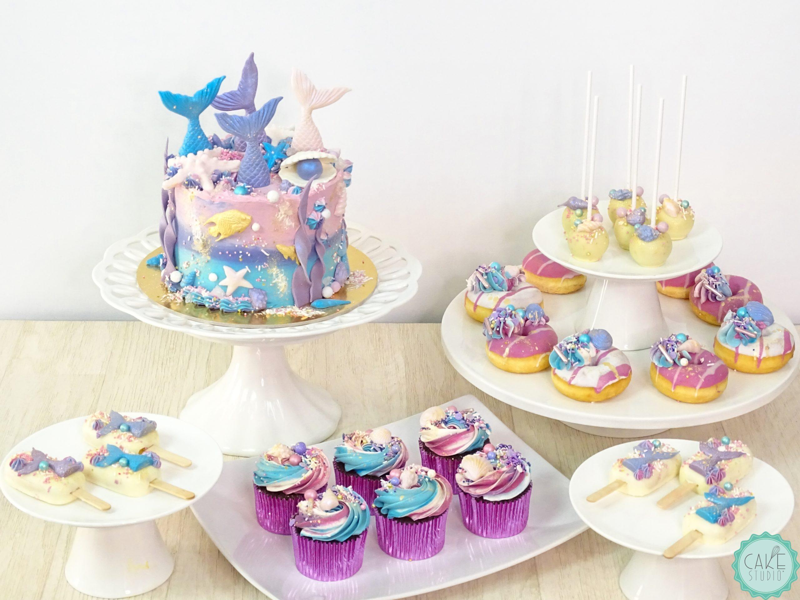 torta sirenetta cakesicle cupcake cakepop donut