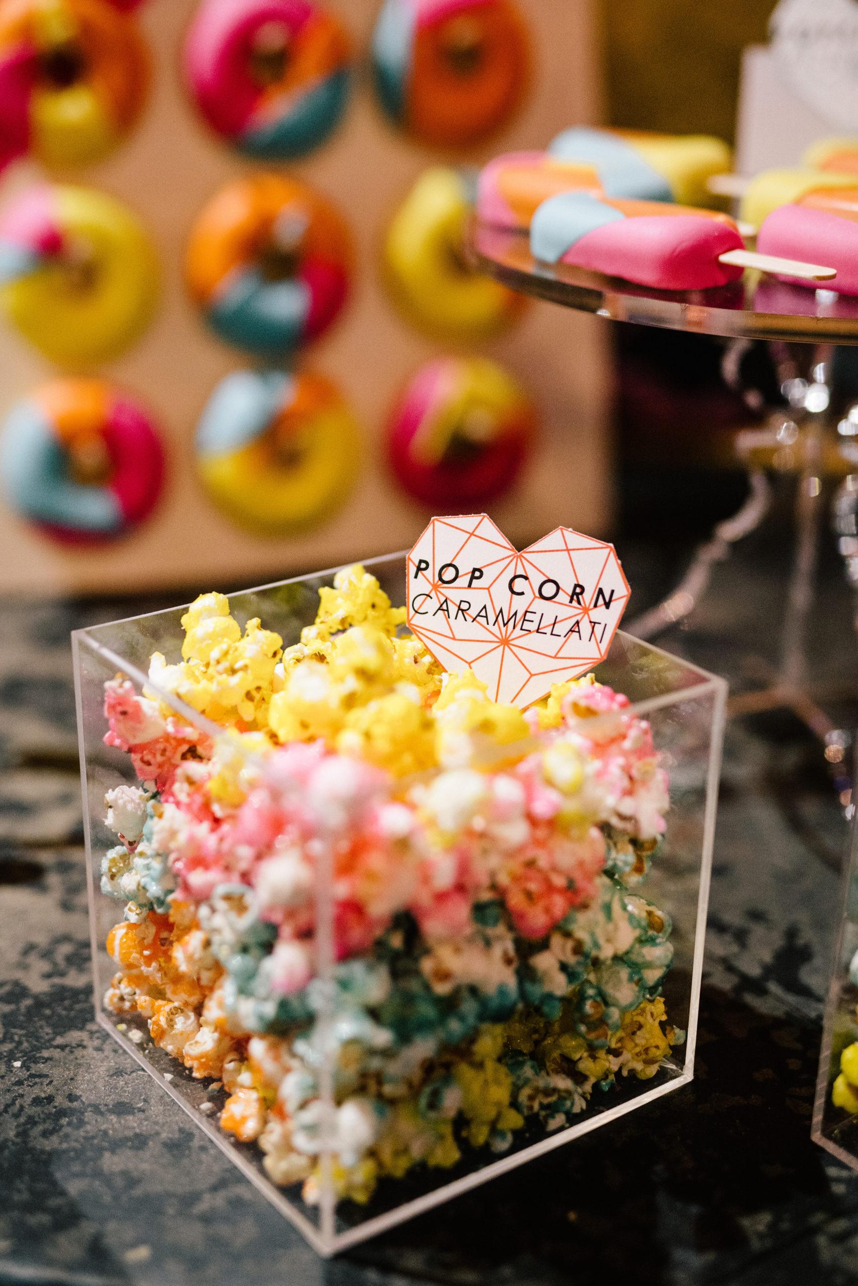 sweet table popcorn caramellati